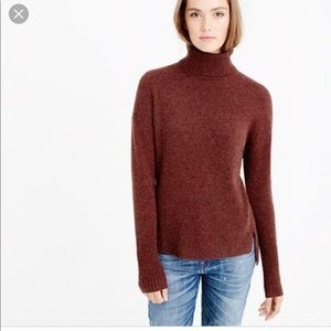 NWOT J.Crew Relaxed Wool Turtleneck